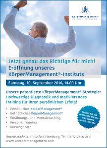 Einladung Eröffnung KörperManagement® Institut Bad Homburg