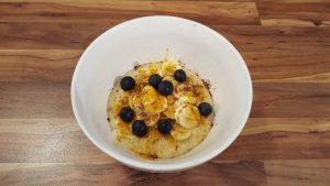 Hirse-Banane-Porridge